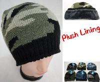 Knitted Winter Beanie [Assorted Camo] *Plush Lining